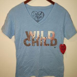 5/$25 NWT Dirtee Hollywood Wild Child tshirt